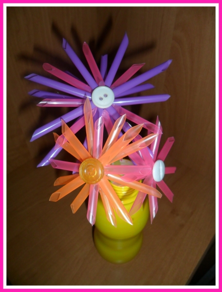 Цветы из трубочек бумаги своими руками 66