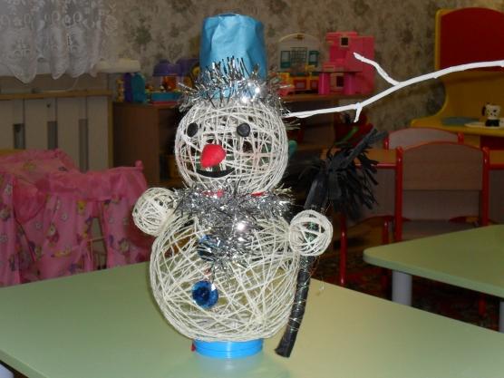 Поделка в детский сад новогодняя игрушка